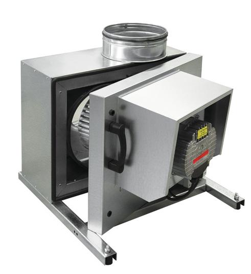 Кухонный вентилятор KF T120 EC с электронно-коммутируемым EC двигателем (380в, 3f)