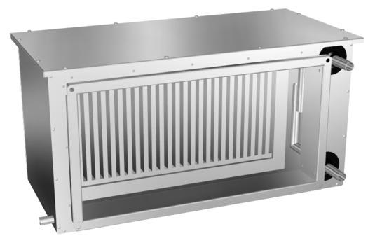 Прямоугольные канальные фреоновые охладители RFC