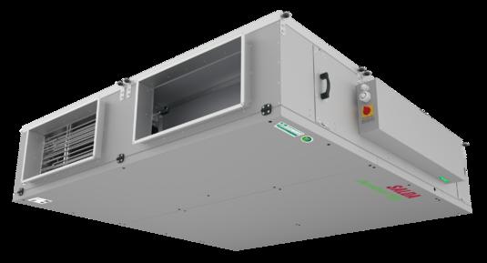 Компактные подпотолочные приточно-вытяжные установки с пластинчатым противоточным рекуператором тепла (КПД до 94%)