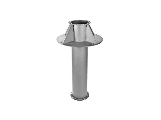 Узлы прохода УП 2 с воздушным клапаном, без кольца для конденсата (с ручным управлением)