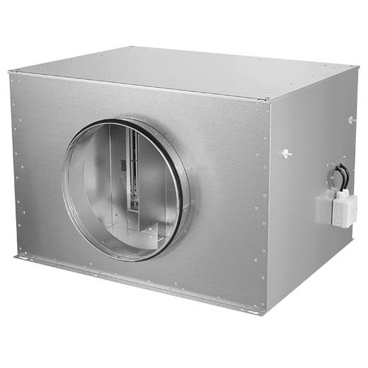 Изолированные боксы для круглых канальных вентиляторов